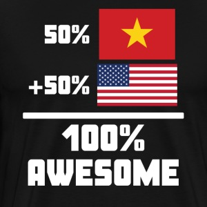 50% Vietnamese 50% American 100% Awesome Flag - Men's Premium T-Shirt