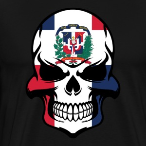 Dominican Flag Skull Dominican Republic Skull - Men's Premium T-Shirt