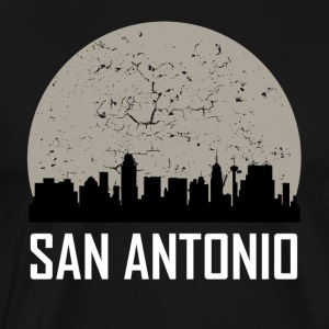 San Antonio Full Moon Skyline - Men's Premium T-Shirt