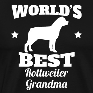 Worlds Best Rottweiler Grandma - Men's Premium T-Shirt