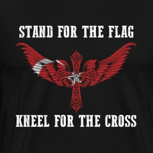 Stand for the flag Turkey kneel for the cross - Men's Premium T-Shirt