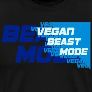 VeganBeastMode [blue] - Men's Premium T-Shirt