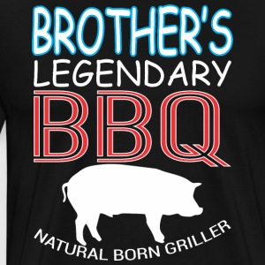 Brothers Legendary BBQ Natural Born Griller - Men's Premium T-Shirt