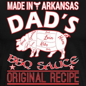 Made In Arkansas Dads BBQ Sauce Original Recipe - Men's Premium T-Shirt