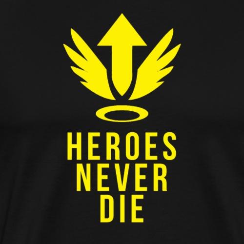 OVERWATCH MERCY HEROES NEVER DIE DESIGN - Men's Premium T-Shirt
