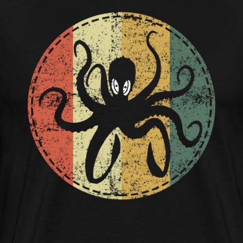 Sea Monster Octopus Kraken Retro Vintage - Men's Premium T-Shirt