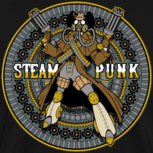 Steampunk Mechanical Cowboy - Men's Premium T-Shirt