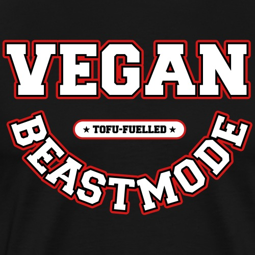 VeganBeastmode – Tofu-Fuelled [vector] - Men's Premium T-Shirt