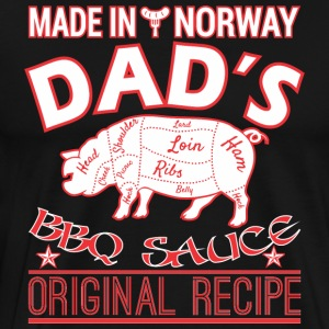 Made In Norway Dads BBQ Sauce Original Recipe - Men's Premium T-Shirt