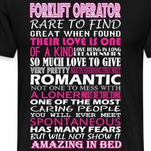 Forklift Operator Rare Find Romantic Amazing Bed - Men's Premium T-Shirt