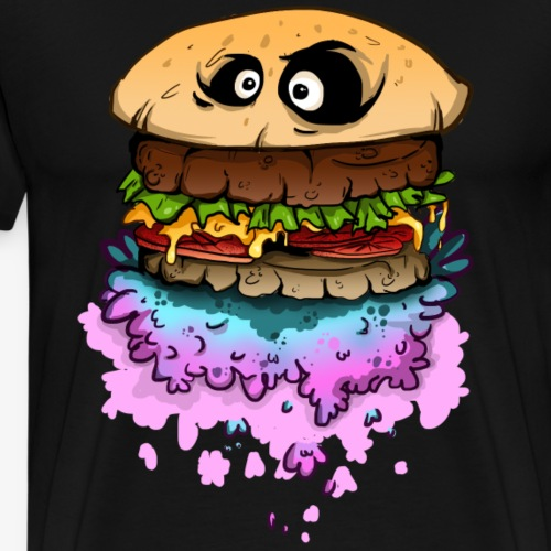 Hamburger in Space shirt - Men's Premium T-Shirt
