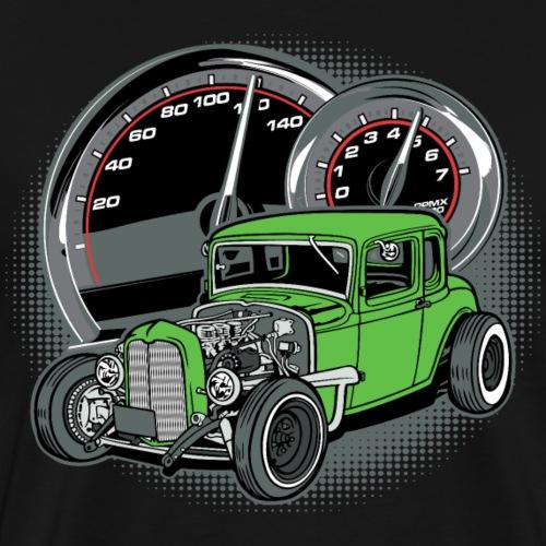 Bright Green Rat Rod Classic Car - Men's Premium T-Shirt