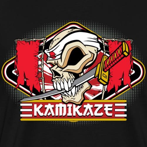 Kamikaze Skull - Men's Premium T-Shirt