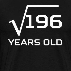 Square Root 196 Funny 14 Years Old 14th Birthday - Men's Premium T-Shirt