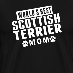 World's Best Scottish Terrier Mom - Men's Premium T-Shirt