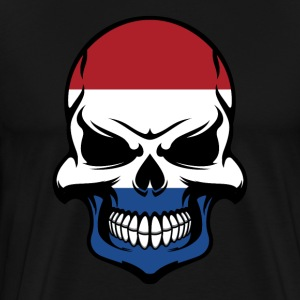 Dutch Flag Skull Cool Netherlands Skull - Men's Premium T-Shirt