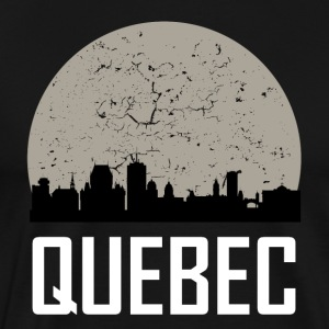 Quebec Full Moon Skyline - Men's Premium T-Shirt