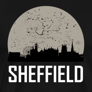 Sheffield Full Moon Skyline - Men's Premium T-Shirt