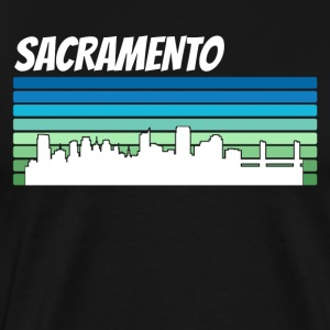 Retro Sacramento Skyline - Men's Premium T-Shirt