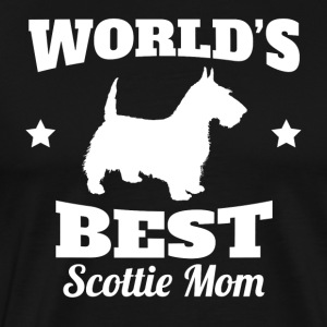 Worlds Best Scottie Mom - Men's Premium T-Shirt