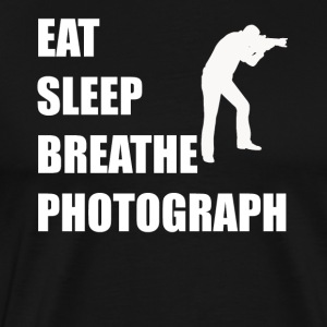 Eat Sleep Breathe Photograph - Men's Premium T-Shirt