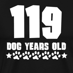 119 Dog Years Old Funny 17th Birthday - Men's Premium T-Shirt