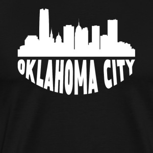 Oklahoma City OK Cityscape Skyline - Men's Premium T-Shirt