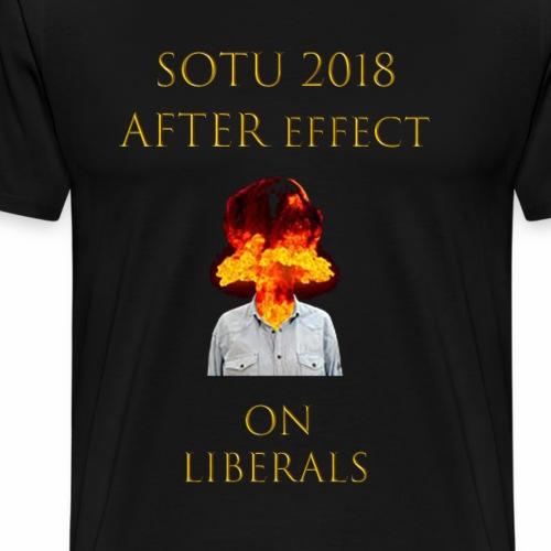 SOTU 2018 exploding head - Men's Premium T-Shirt