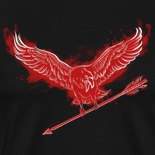 The Harbinger – Red (Archery by BOWTIQUE) - Men's Premium T-Shirt