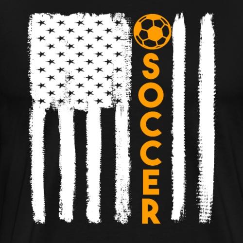Soccer USA Flag Grunge Style - Men's Premium T-Shirt