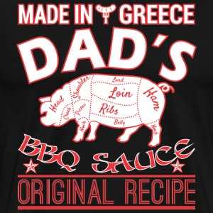 Made In Greece Dads BBQ Sauce Original Recipe - Men's Premium T-Shirt