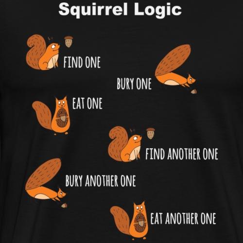 Squirrel Logic - Men's Premium T-Shirt