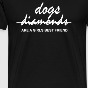 Dogs are a girls best friend - Men's Premium T-Shirt