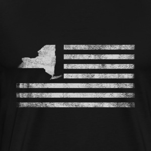 New York State United States Flag Vintage - Men's Premium T-Shirt
