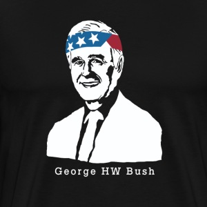 President George HW Bush American Patriot Vintage - Men's Premium T-Shirt