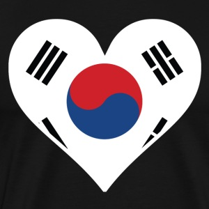 Korean Flag Heart - Men's Premium T-Shirt