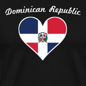 Dominican Republic Flag Heart - Men's Premium T-Shirt