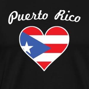 Puerto Rico Flag Heart - Men's Premium T-Shirt