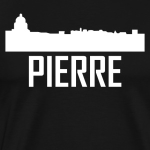 Pierre South Dakota City Skyline - Men's Premium T-Shirt