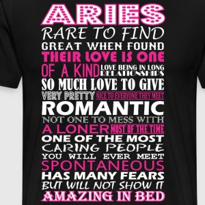 Aries Rare To Find Romantic Amazing To Bed - Men's Premium T-Shirt