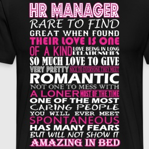 Hr Manager Rare To Find Romantic Amazing To Bed - Men's Premium T-Shirt