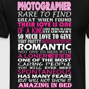 Photographer Rare To Find Romantic Amazing To Bed - Men's Premium T-Shirt