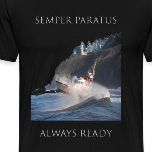 Proud to be an American - Coast Guard Motto - Men's Premium T-Shirt