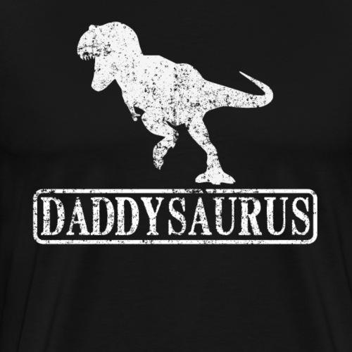 Daddy Saurus Father's Day Vintage - Men's Premium T-Shirt