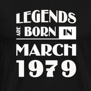 Legends are born in March 1979 - Men's Premium T-Shirt