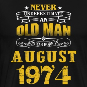 An Old Man Who Was Born In August 1974 - Men's Premium T-Shirt