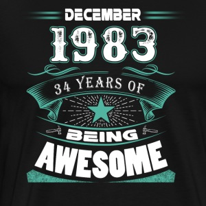 December 1983 - 34 years of being awesome - Men's Premium T-Shirt