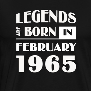 Legends are born in February 1965 - Men's Premium T-Shirt