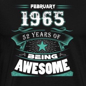 February 1965 - 52 years of being awesome (v.2017) - Men's Premium T-Shirt