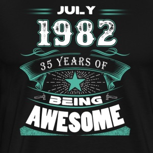July 1982 - 35 years of being awesome - Men's Premium T-Shirt